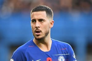 Speculation over Hazard's (above) future has intensified since his impressive displays for Belgium at the World Cup in Russia.