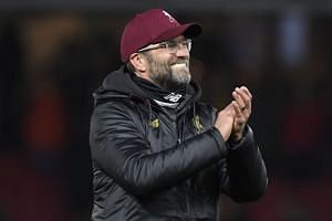 Liverpool manager Juergen Klopp at the end of the match.
