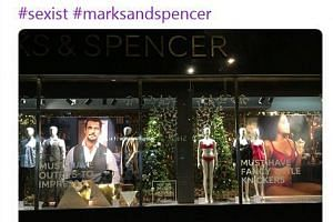 A tweet by women's rights charity FiLiA on the Marks and Spencer display window in Nottingham, which was called out as sexist by some. The store refused to remove the Christmas display.