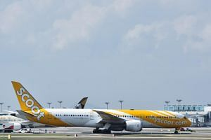 In response to queries by The Straits Times, a spokesman for Scoot said that the delay was caused by a technical issue with the aircraft nose gear door.