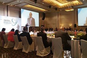 Mr Tharman told the conference at the Grand Waterfront Copthorne hotel on Monday that human psychology is a problem, as the pleasures of chocolate cake are immediate while costs to health are hidden and set in later.