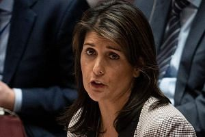 US Ambassador to the United Nations Nikki Haley called for a de-escalation of tensions over Crimea, which Russia annexed in 2014.