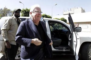 UN special envoy for Yemen Martin Griffiths before a meeting with the leader of the Houthi rebels in Sana'a, Yemen, on Nov 24, 2018.