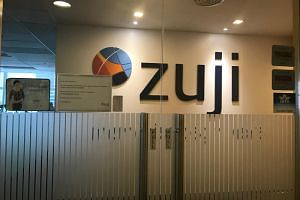 Online travel agent Zuji's Singapore office at Novena Square was largely empty with the lights off when The Straits Times visited on Nov 26, 2018.