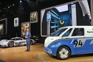 Mr Scott Keogh, the new chief executive officer of Volkswagen Group of America, says at the Los Angeles motor show that a new US plant is needed to build the yet-to-be-unveiled VW electric car, priced at between $41,000 and $55,000, that is due in 20