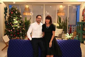 Sharon Lee and her husband, Christophe, enjoy hosting parties and organise a Christmas party for about 50 friends every year.