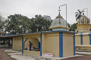 The Sri Maha Mariamman Temple in Subang Jaya, Selangor, that was the site of a clash between devotees and protesters on Nov 26, 2018.