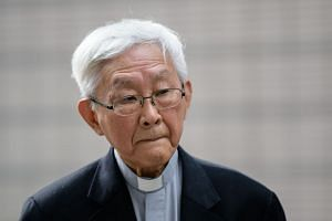 Cardinal Joseph Zen, former bishop of Hong Kong, testified as a defence witness at the West Kowloon Magistrates Court in Hong Kong on Dec 5, 2018.