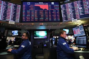 The Dow Jones industrial average fell nearly 800 points on Dec 4, 2018, as investors' fears increased over a potential trade war between China and US.