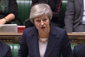 Britain's Prime Minister Theresa May during a debate on the Brexit withdrawal agreement in the House of Commons in London, on Dec 4, 2018.