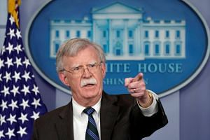US President Donald Trump's national security adviser John Bolton speaks during a press briefing at the White House in Washington, US, on Nov 27, 2018.