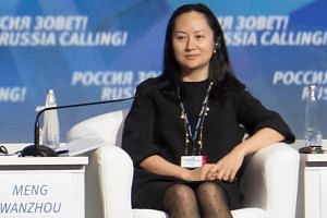 Huawei's chief financial officier Meng Wanzhou in Moscow on Oct 2, 2014. Her arrest was not blocked by the White House despite ongoing trade talks with China.