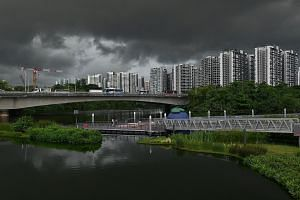 Among the estates to get new Build-To-Order flats next year is Sengkang (left). The HDB said that first-timer application rates for three-room and larger BTO flats in all estates have remained stable, with about two applications for each new flat on