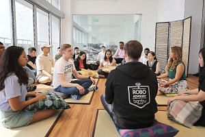 Employees of fintech company Bambu can join 10-minute meditation sessions in the morning.