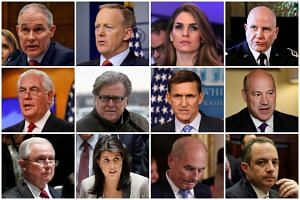 (Top row) Former Environmental Protection Agency Administrator Scott Pruitt, former White House Press Secretary Sean Spicer, former White House Communications Director Hope Hicks, former White House National Security Advisor HR McMaster; (Middle row)