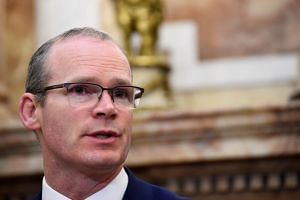 Ireland's Foreign Minister Simon Coveney at a news conference in Dublin, Ireland, on April 12, 2018.