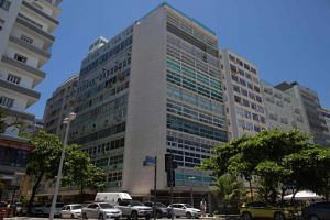 The upmarket building with ocean view on Rio de Janeiro's Copacabana Beach, in which Japanese car giant Nissan owns an apartment that was used by its former chairman Carlos Ghosn while he visited Brazil, the country where he was born.