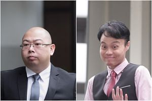 The Online Citizen's editor Terry Xu (left) and Daniel Augustin De Costa were each charged with one count of criminal defamation.