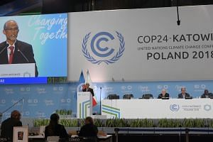 Mr Masagos Zulkifli, Minister for the Environment and Water Resources, speaks at the United Nations Climate Change Conference (COP24) on Dec 12, 2018 in Katowice, Poland.