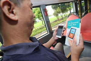The six-month trial of on-demand public buses allows commuters to request pick-ups and drop-offs at any bus stop within designated areas through a mobile app.
