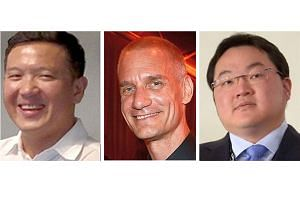 (From left) Former Goldman Sachs bankers Roger Ng and Tim Leissner are accused of conspiring with financier Low Taek Jho and others to bribe Malaysian officials to ensure that Goldman was selected to work on the bonds.
