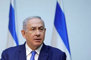 Netanyahu (above) said he had discussed Washington's plans with US Secretary of State Mike Pompeo and Trump.