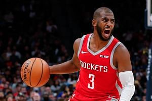 Houston Rockets guard Chris Paul is averaging 15.6 points, eight assists and four rebounds per game this season.