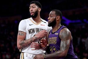 """LeBron James had told reporters it would be """"amazing"""" to play alongside Anthony Davis, who has been the subject of trade rumours recently."""