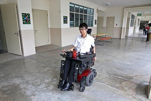 Mr Wong Zi Heng became paralysed from the chest down when he was 21-years-old after he jumped into the sea at Sentosa and landed in the water in such a way as to fracture his neck and injure his spinal cord. Seeing a cockroach in her car while she wa