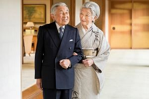 Emperor Akihito and Empress Michiko - a love story between a royal and a commoner that began on a tennis court - will mark their 60th marriage anniversary in April, in the same month that he will abdicate.