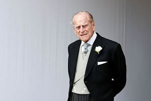 Britain's Prince Philip at the wedding of Princess Eugenie of York and Jack Brooksbank in St George's Chapel, Windsor Castle, near London, Britain, on Oct 12, 2018.