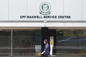 File photo showing the CPF Maxwell Service Centre located in Maxwell Road, on Dec 13, 2018.