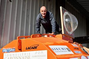 Savin (above) hopes to reach the Caribbean within three months, thanks to ocean currents alone.