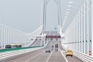 The world's longest sea bridge connecting Hong Kong, Macau and Zhuhai on mainland China opened to traffic on Oct 24.