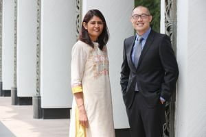 Madam Ratna Kumari, 47, principal of Tampines North Primary School, and Mr Kevin Ang, 42, principal of Bukit View Secondary School. They were two of 10 first-time principals who received their letters of appointment at the Appointment and Appreciatio