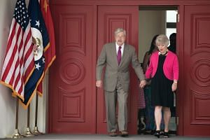 The American ambassador to China, Mr Terry Branstad, and his wife, Christine, at their residence in Beijing. A Chinese university turned down his request to visit a centre to promote American culture this autumn.