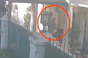 A still image from CCTV footage claiming to show a man with suitcases purportedly containing the remains of journalist Jamal Khashoggi into the residence of Saudi Arabia's consul general in Istanbul.