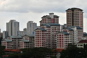 HDB flats opposite 600 Sin Ming Avenue. For the whole of 2018, HDB resale prices dipped 0.9 per cent over 2017.