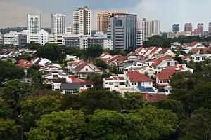Prices of landed homes led the slowdown, falling by 1.8 per cent, reversing a 2.3 per cent rise in the third quarter.