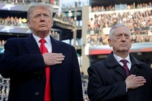 Trump and Mattis attend an Army-Navy football game in Pennsylvania in December 2018.