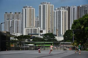 HDB prices in December 2018 were down 14.3 per cent from its peak in April 2013.