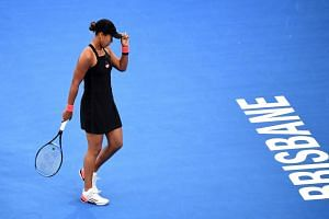 Reigning US Open champion Naomi Osaka made 26 unforced errors and was broken three times in a disappointing display.