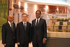 Dean of Singapore Judicial College Foo Chee Hock (centre) was appointed as a Honorary Senior Counsel, while Law Society president and Rajah & Tann partner Gregory Vijayendran (left), and Mr Siraj Omar, who heads the Commercial Disputes practice at Pr