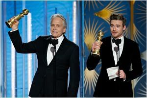 Michael Douglas (left) was named best television comedy actor in The Kominsky Method, while Richard Madden was a first-time winner - for best TV drama actor - for Bodyguard.