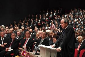 Attorney-General Lucien Wong speaking at the Opening of the Legal Year 2019 at the Supreme Court on Jan 7.