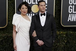 The three-hour live ceremony, hosted by actors Sandra Oh and Andy Samberg, was the most watched telecast in prime time, excluding news and sports, since the Oscars in March last year.