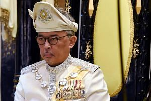Talk has been rife that Sultan Ahmad Shah, 88, will abdicate as Sultan of Pahang to make way for his son, Tengku Abdullah (pictured), 59.
