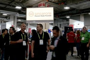 The Singapore Pavilion hosting several Singapore SMEs at CES 2019 in Las Vegas.