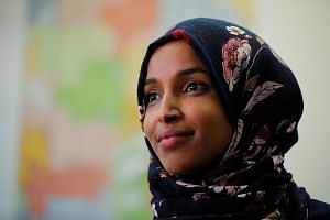 Ms Ilhan Omar made history as one of the first two Muslim women in Congress, prompting an overturn of a 181-year-old ban on head coverings to allow her to wear the hijab.