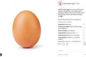 The egg image by user world_record_egg was first posted on Jan 4 with the message: